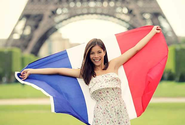 Student with Flag of France