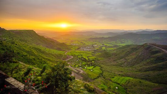 beautiful landscape In Ethiopia