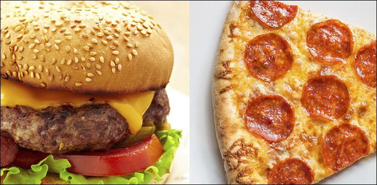 Best College For Pizza and Burgers