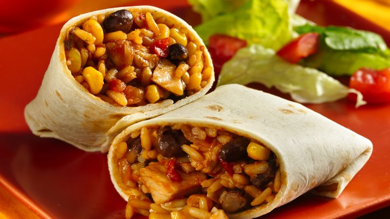 Quick and Easy Chicken Burrito