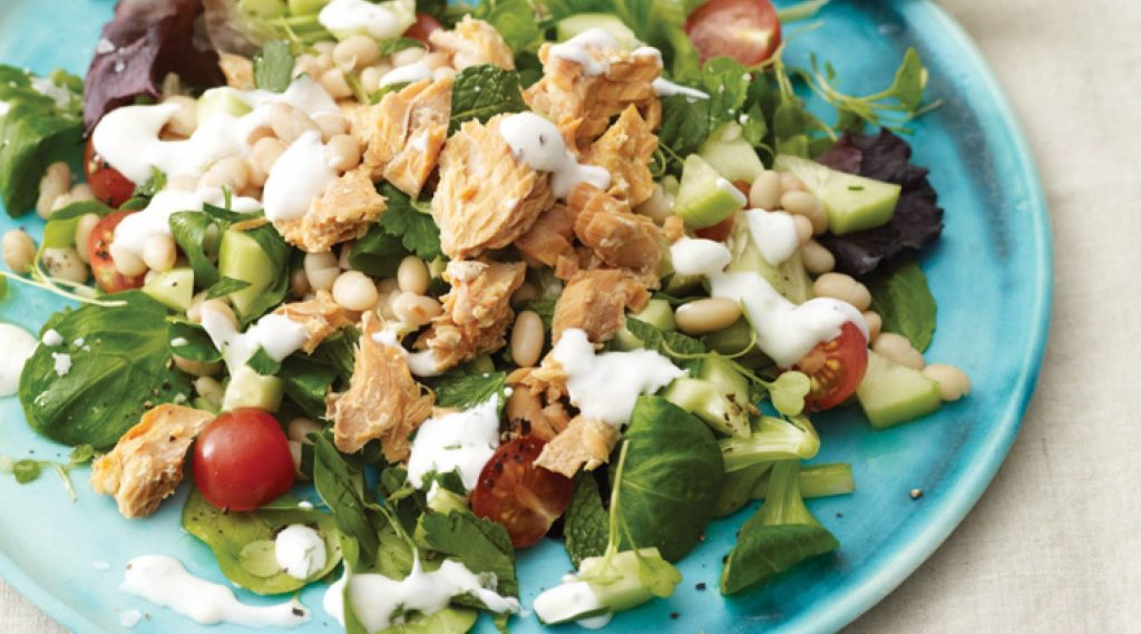 Salmon and Herbed Bean Salad