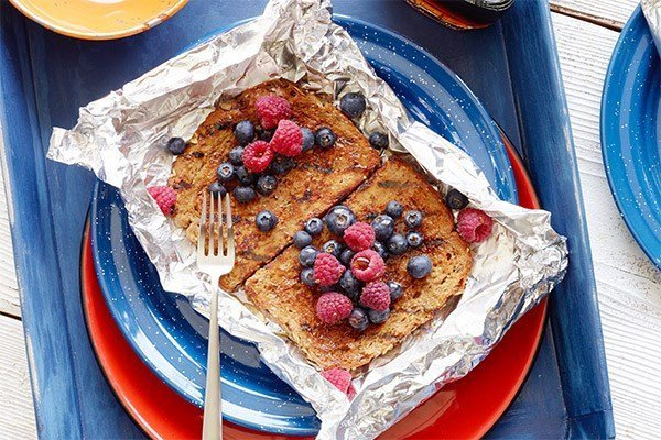 Healthy Grilled French Toast Foil Packets