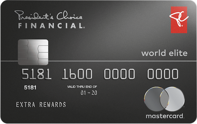 PC Financial World Elite Mastercard