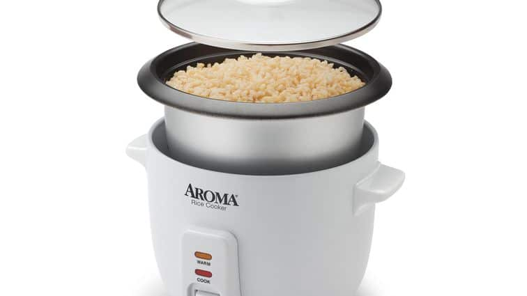 Aroma 6-cup non-stick rice cooker