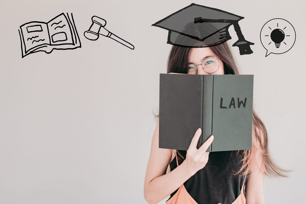 Law School Student thinking of graduation
