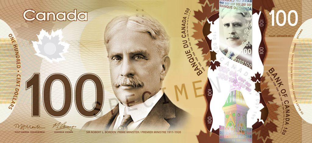 100 Canadian dollar