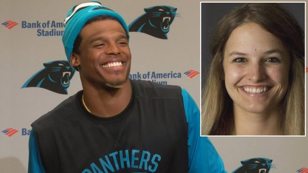 Cam Newton female reporter