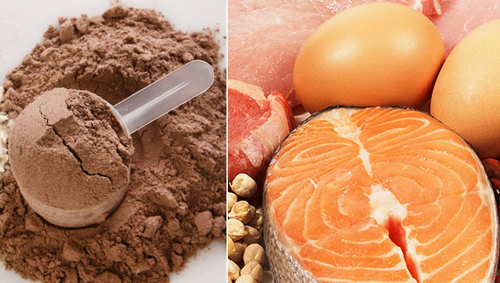 foods vs. protein powder