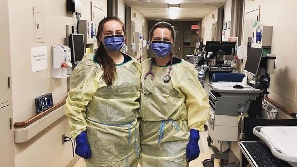 Nurse wearing PPE